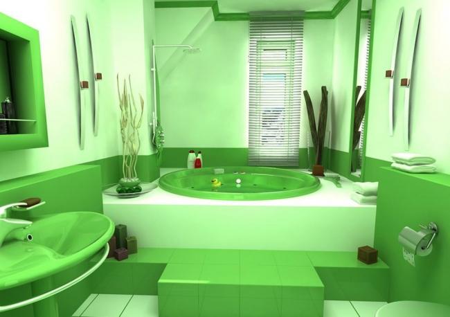 Фото ванной комнаты салатовый