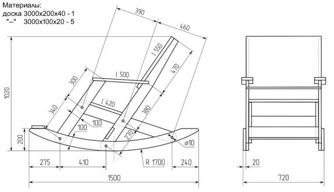 Схема-чертеж мягкого кресла своими руками 89