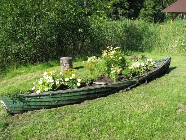 цветочные лодки