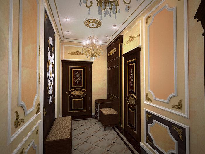 Классические двери в интерьере квартиры фото