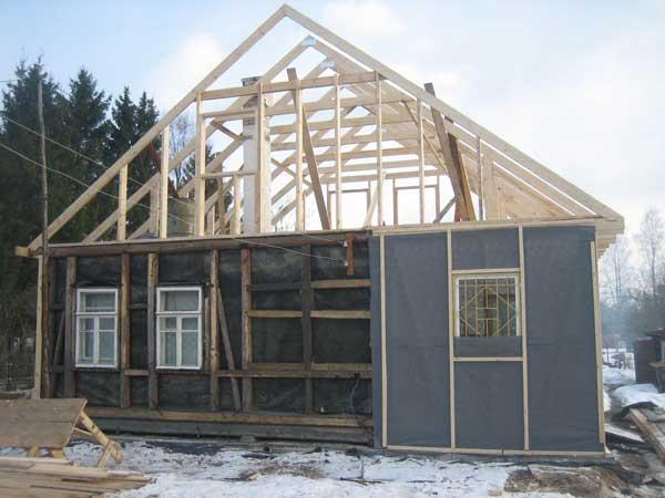 Реконструкция старого дома своими руками видео