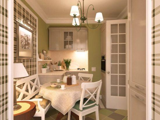 Салатовый цвет стен кухни