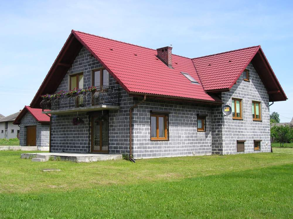 Дом из шлакоблоков