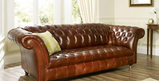 Элегантная кожаная мебель