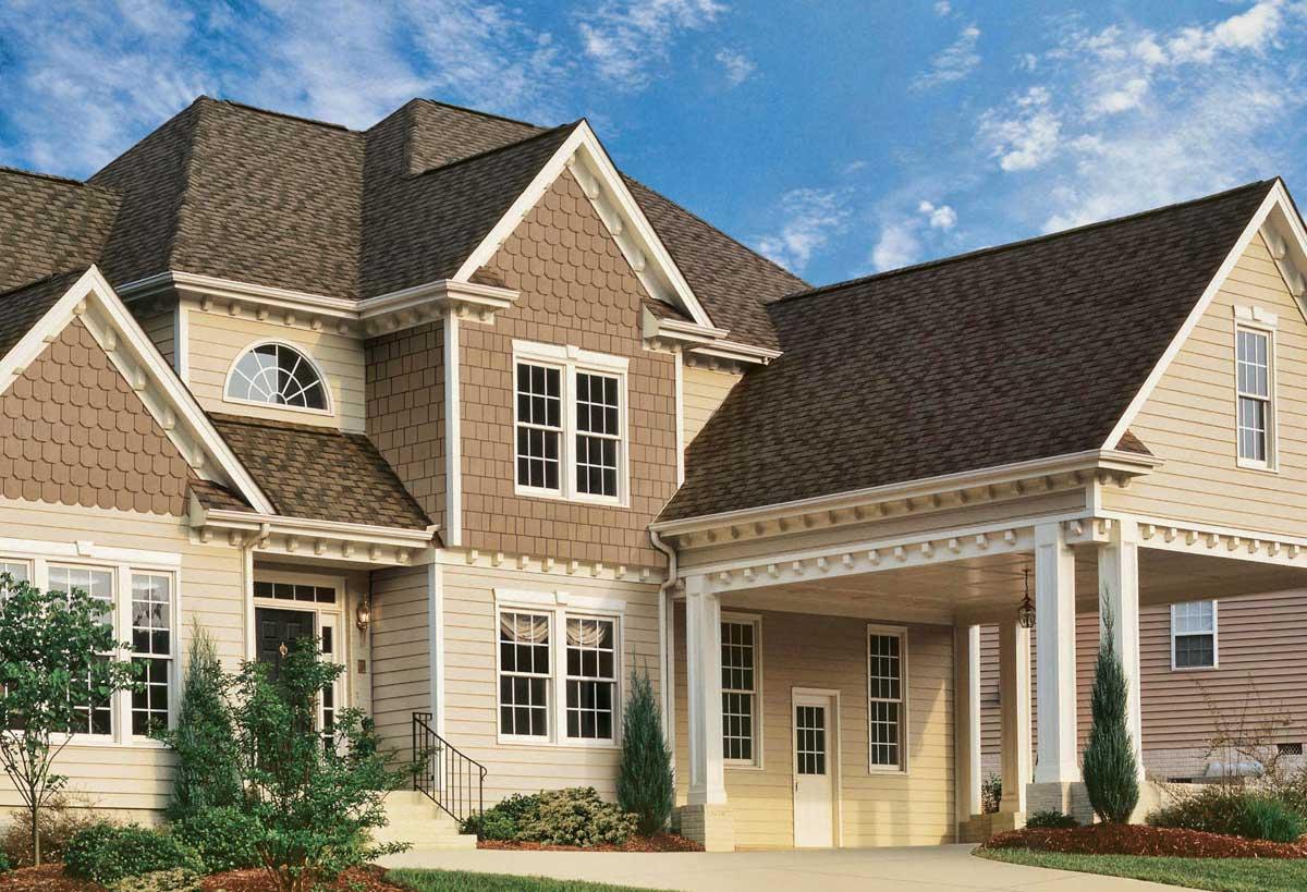 Дизайн фасадов домов сайдинга