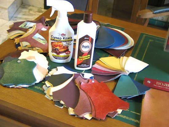 Средства ухода за обивкой мебеди из натуральной кожи