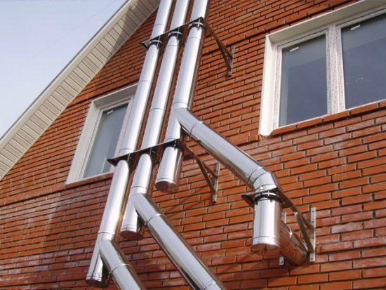 монтаж дымохожных труб