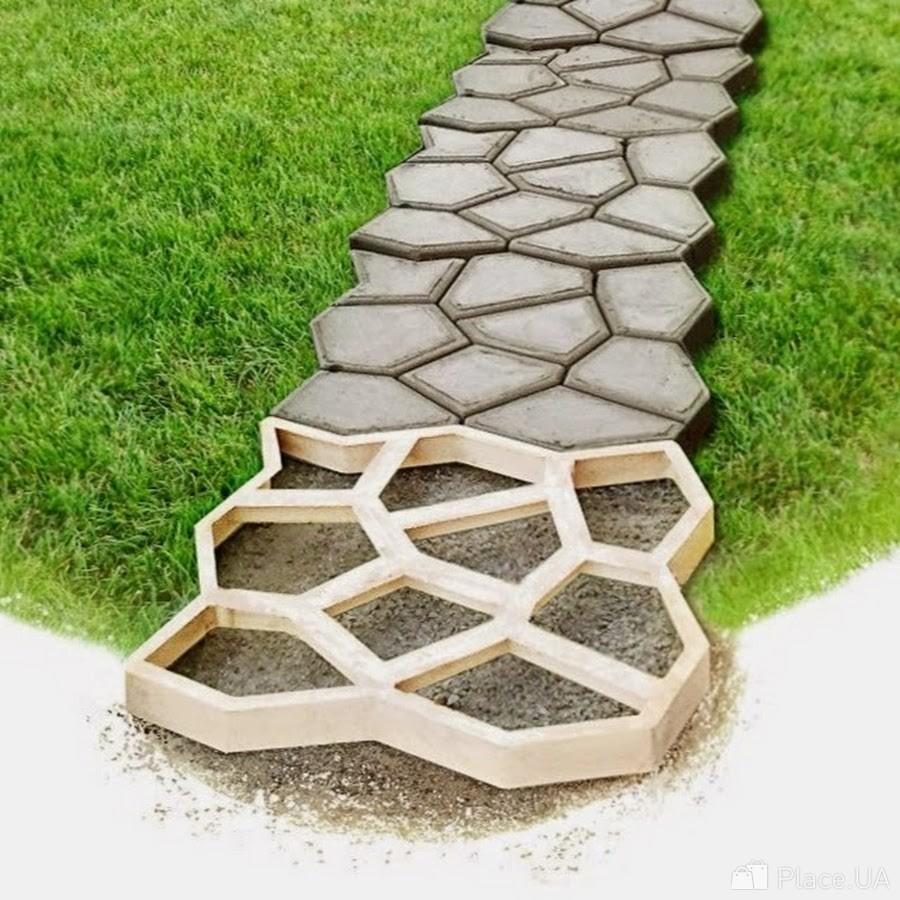 пластиковые формы для садовых дорожек