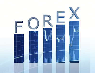 forex text and business graph