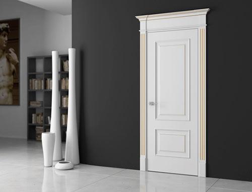 Белая финская дверь