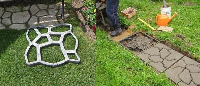 Как сделать цветной цементный раствор для садовой дорожки цена цемент москва
