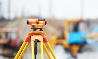 surveyor equipment optical level outdoors